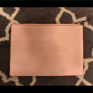 Kate spade large light pink pouch